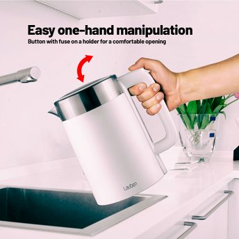 Lauben Electric Kettle EK17WS - easy one-hand manipulation