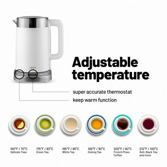 Lauben Electric Kettle EK17WS - adjustable temperature