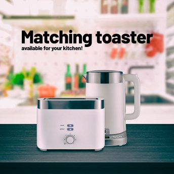 Lauben Electric Kettle EK17WS - matching toaster