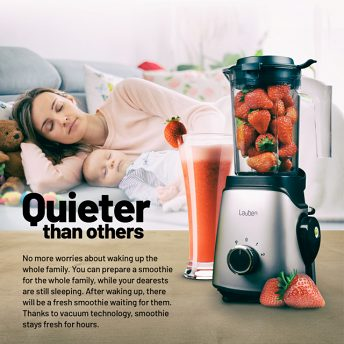 Lauben VacuFit Blender - quieter than others